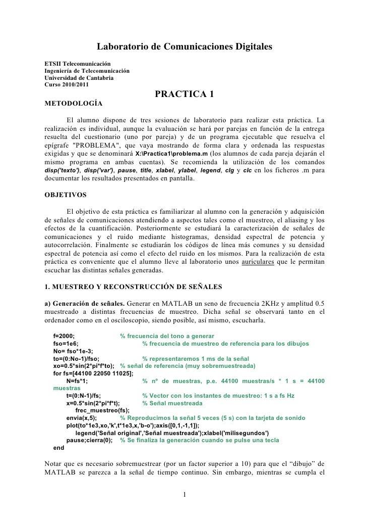 Laboratorio de Comunicaciones DigitalesETSII TelecomunicaciónIngeniería de TelecomunicaciónUniversidad de CantabriaCurso 2...