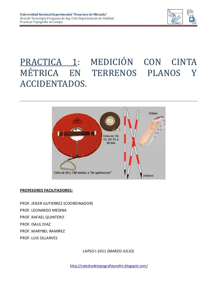Practica 1 medicion con cinta métrica