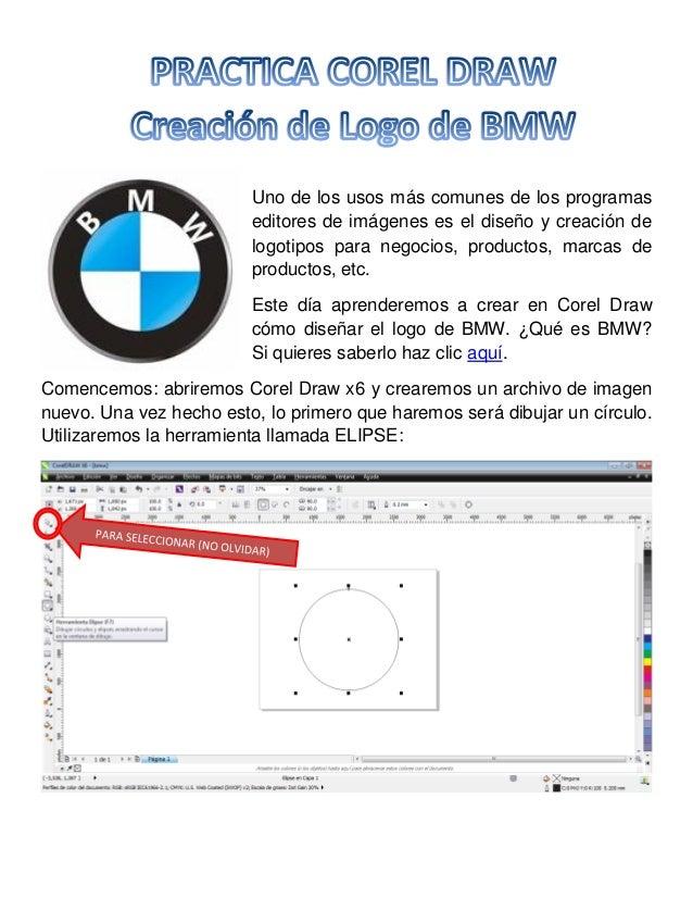 Practica Corel Draw - Logo BMW