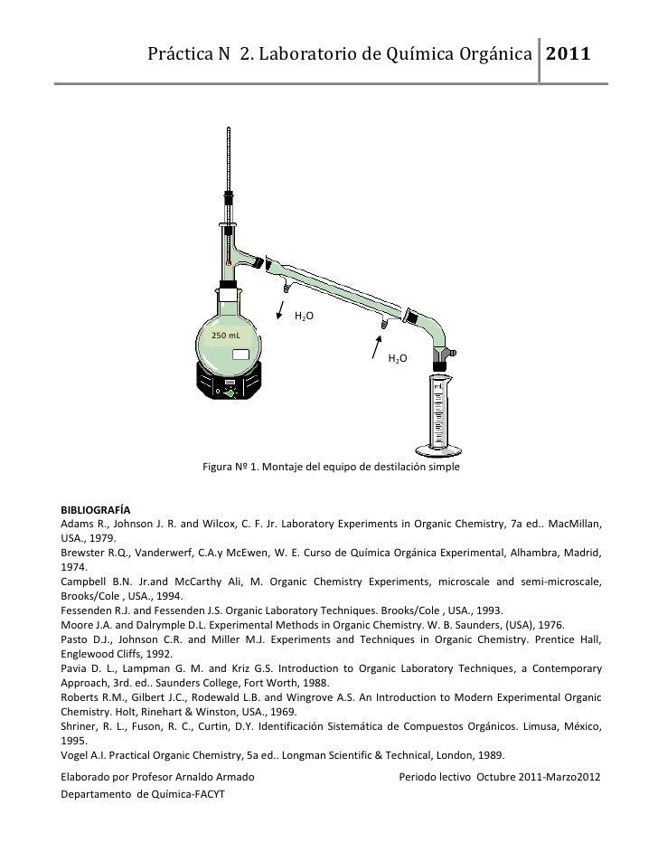Quimica Organica Experimental qu Mica Org Nica 2011 H2o