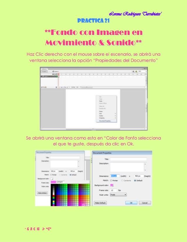 Lorena Rodríguez Turrubiates'                       Practica 21           **Fondo con Imagen en           Movimiento & Son...