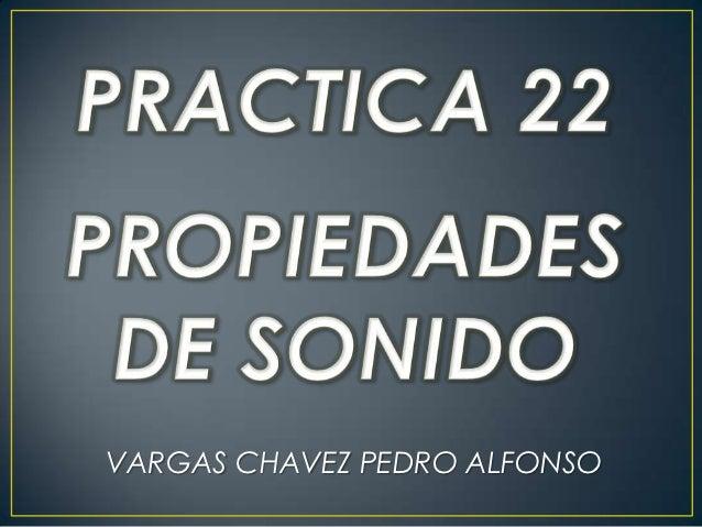VARGAS CHAVEZ PEDRO ALFONSO