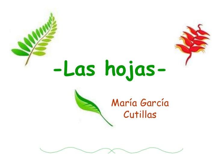 -Las hojas-<br />María García Cutillas<br />