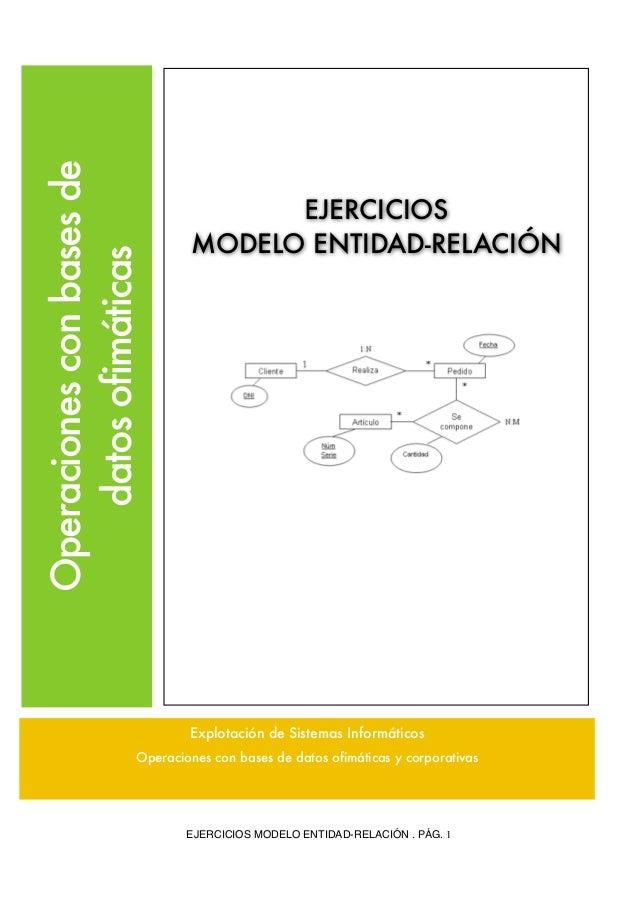 Operaciones con bases de                                    EJERCICIOS                              MODELO ENTIDAD-RELACIÓ...