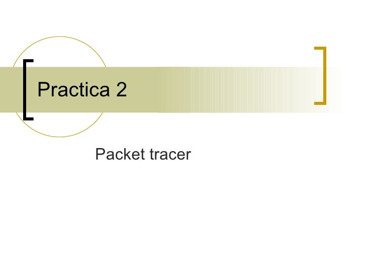 Practica 2 Packet tracer