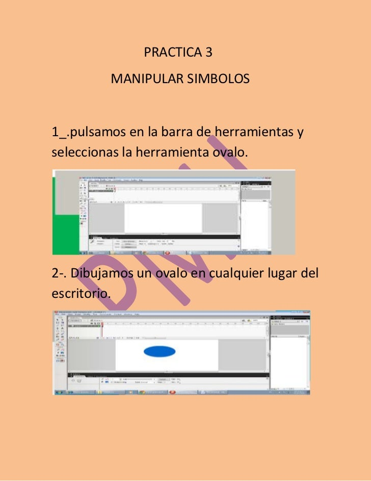 PRACTICA 3         MANIPULAR SIMBOLOS1_.pulsamos en la barra de herramientas yseleccionas la herramienta ovalo.2-. Dibujam...