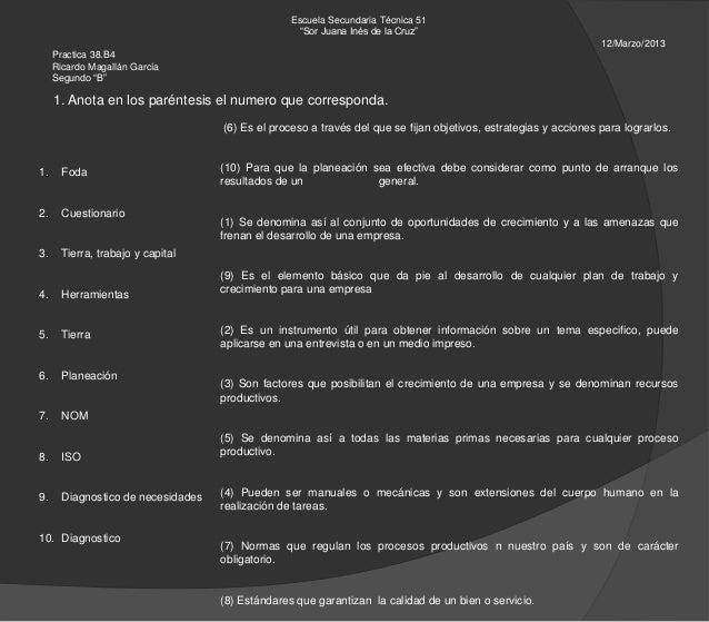"""Escuela Secundaria Técnica 51                                                   """"Sor Juana Inés de la Cruz""""               ..."""