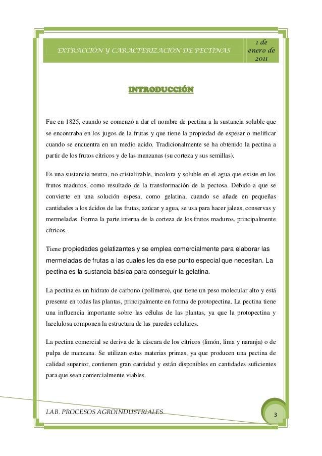 extraccion de pectina a partir de [175] extracción y caracterización de pectinas obtenidas a partir de frutos de la biodiversidad peruana nancy chasquibol silva, edmundo arroyo benites, juan carlos morales gomero.
