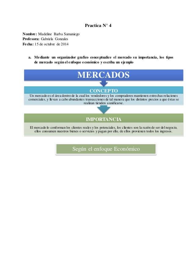 Practica N° 4  Nombre: Madeline Barba Samaniego  Profesora: Gabriela Gonzales  Fecha: 15 de octubre de 2014  a. Mediante u...