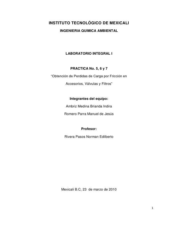 INSTITUTO TECNOLÓGICO DE MEXICALI      INGENIERIA QUIMICA AMBIENTAL              LABORATORIO INTEGRAL I                PRA...