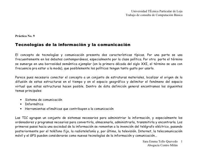 Universidad Técnica Particular de Loja                                                                            Trabajo ...