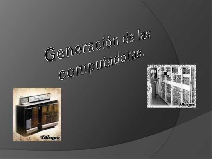 Las computadoras de la primera Generaciónemplearon bulbos para procesar información. Losoperadores ingresaban los datos y ...