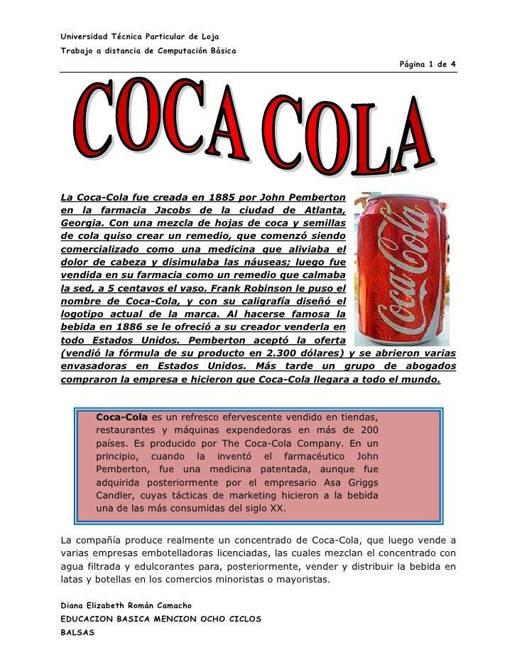 442087019685Coca-Cola es un refresco efervescente vendido en tiendas, restaurantes y máquinas expendedoras en más de 200 p...