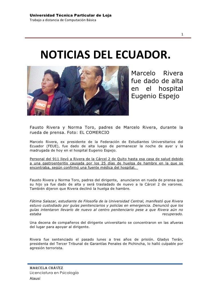 -8318525781000296883-495828NOTICIAS DEL ECUADOR.0NOTICIAS DEL ECUADOR.<br />Marcelo Rivera fue dado de alta en el hospital...