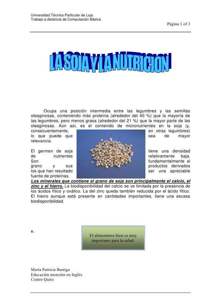 centercenter<br />Ocupa una posición intermedia entre las legumbres y las semillas oleaginosas, conteniendo más proteína (...