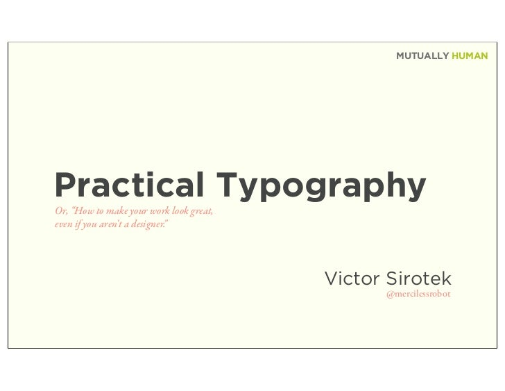 Practical Typography - Type for non-designers