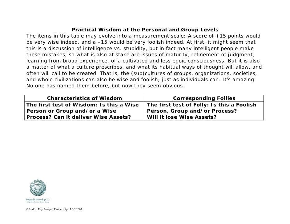 Practical Wisdom Table Lg