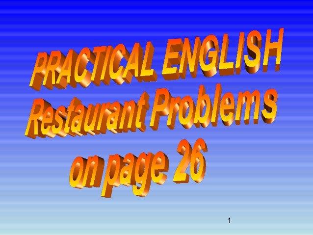Practical English 2 - Restaurant