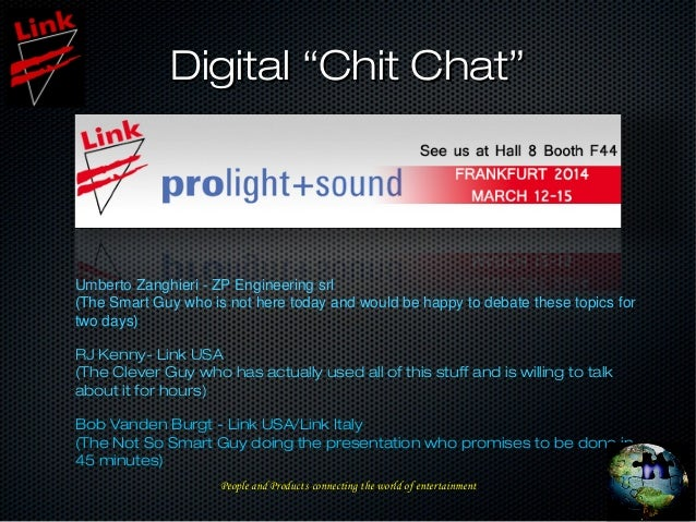 """Digital """"Chit Chat""""Digital """"Chit Chat"""" Umberto Zanghieri - ZP Engineering srl (The Smart Guy who is not here today and wou..."""