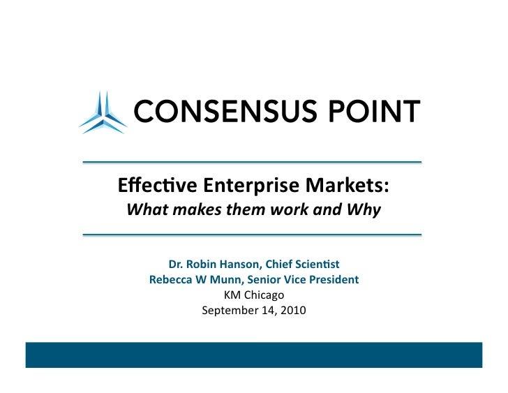 Practical dos and don'ts of enterprise prediction markets