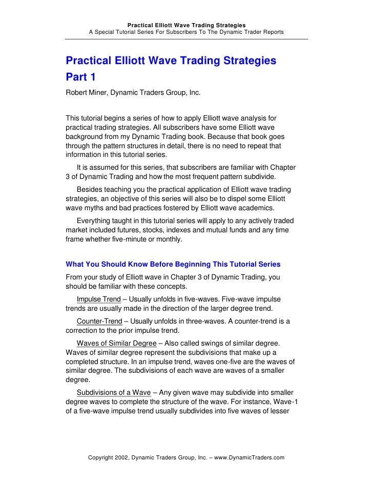 Practical elliott wave trading strategies.pdf download