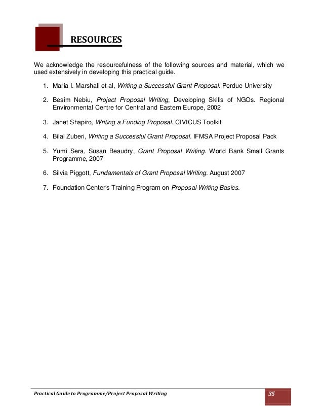 project proposal writing skills pdf