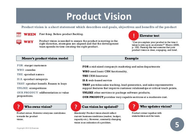Short vision statements