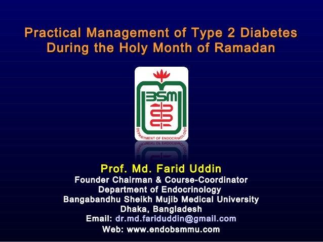Practical Management of Type 2 DiabetesPractical Management of Type 2 Diabetes During the Holy Month of RamadanDuring the ...