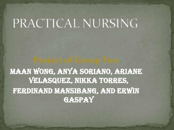 Project of Group Two Maan Wong, Anya Soriano, Ariane      Velasquez, Nikka Torres,  Ferdinand Mansibang, and Erwin        ...