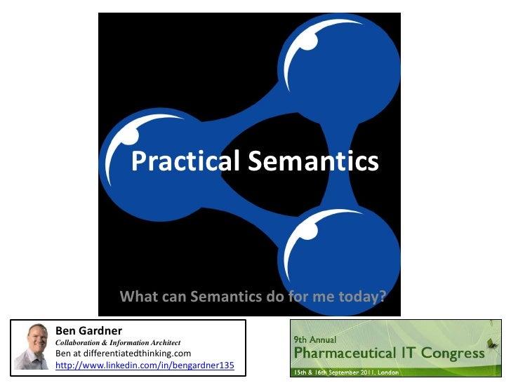 Practical semantics - An introduction
