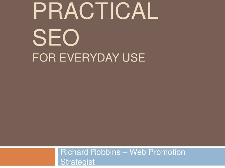 Practical SEO for Everyday Use