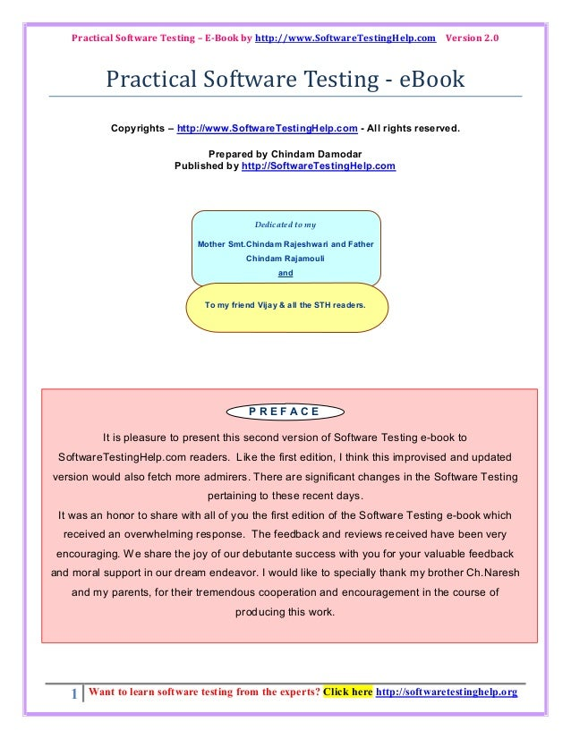Practical software testing   e book by softwaretestinghelp.com