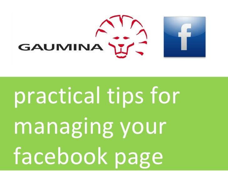 practical tips for managing your facebook page