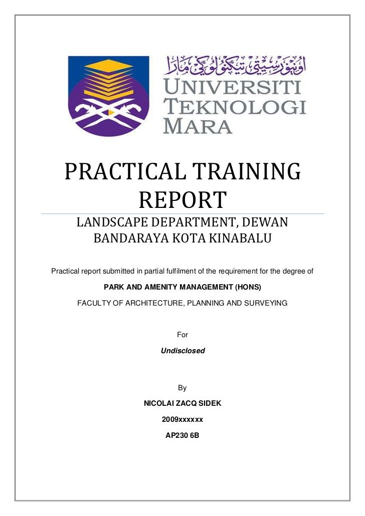 Training Report  KakTakTk