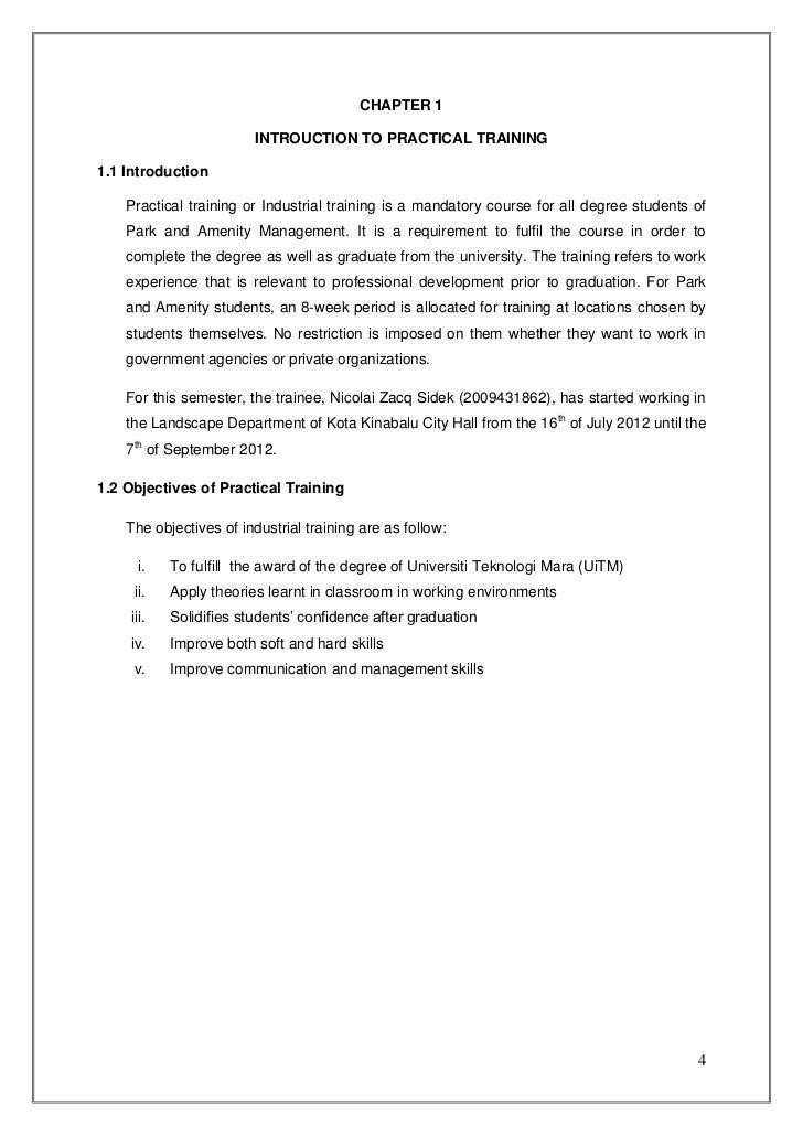 sample of industrial training report coursework academic writing service rh qiessayadzw vetsfor us