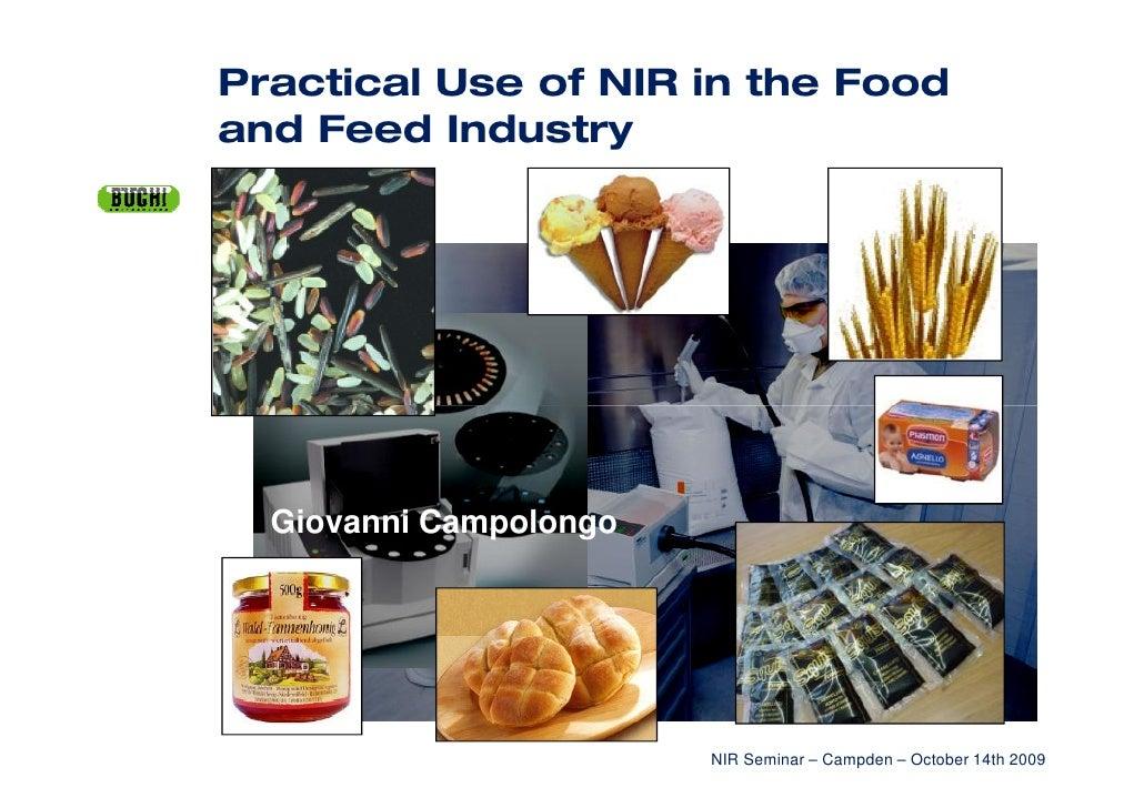 Giovanni Campolongo                           NIR Seminar – Campden – October 14th 2009