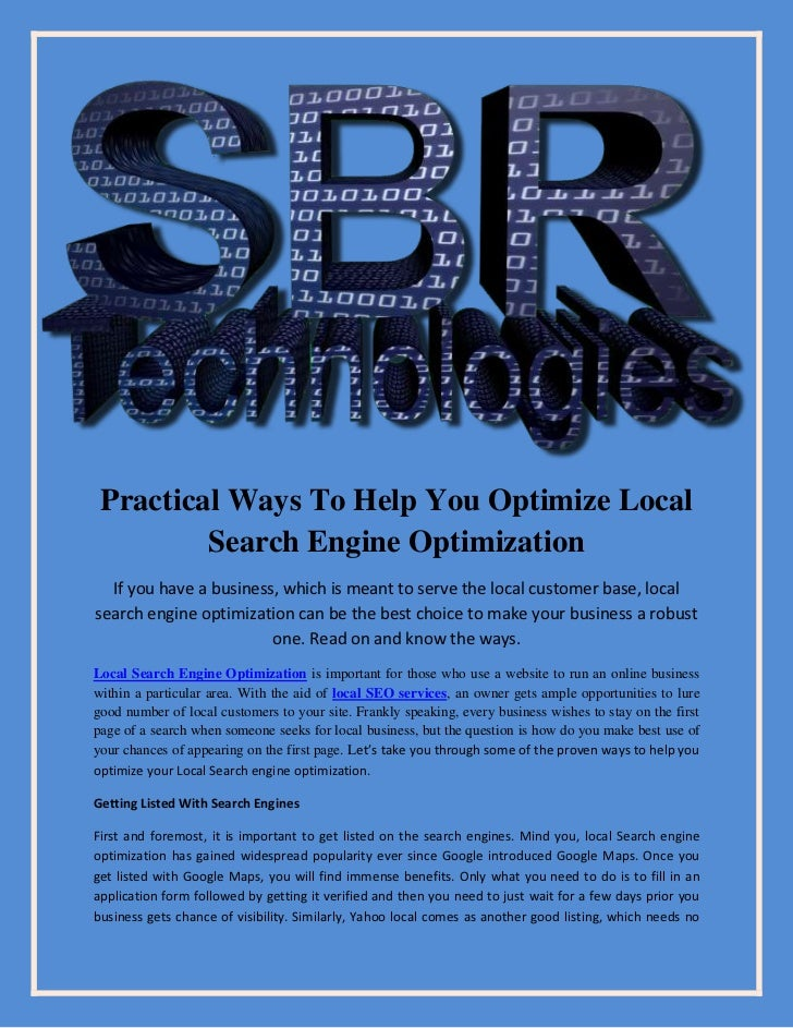 Practical ways to help you optimize local search engine optimization