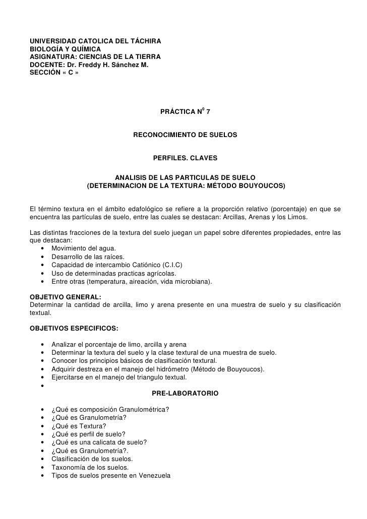 UNIVERSIDAD CATOLICA DEL TÁCHIRABIOLOGÍA Y QUÍMICAASIGNATURA: CIENCIAS DE LA TIERRADOCENTE: Dr. Freddy H. Sánchez M.SECCIÓ...
