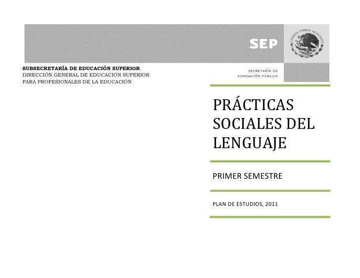 SUBSECRETARÍA DE EDUCACIÓN SUPERIORDIRECCIÓN GENERAL DE EDUCACIÓN SUPERIORPARA PROFESIONALES DE LA EDUCACIÓN              ...