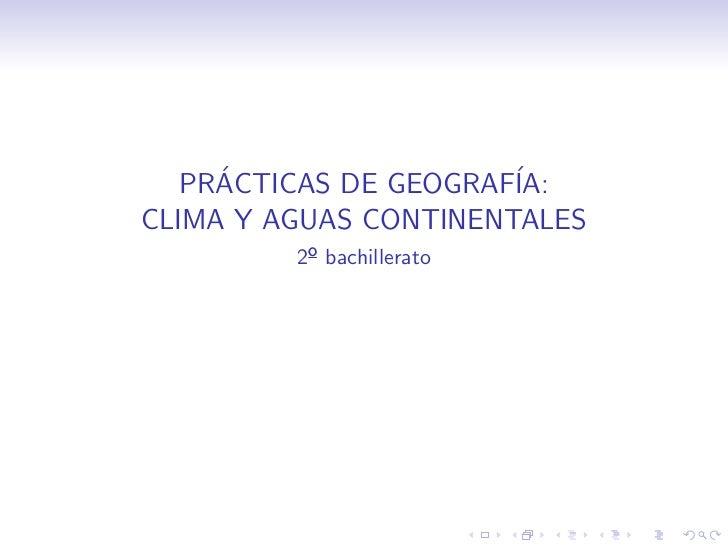 Prácticas de Geografía: el problema del agua en España