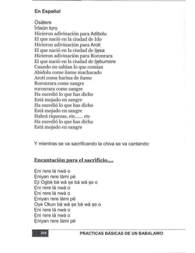 En Español  Ósátere  Írósün toro  Hicieron adivinación para Adibolu  El que nació en la ciudad de Ido Hicieron adívinación...