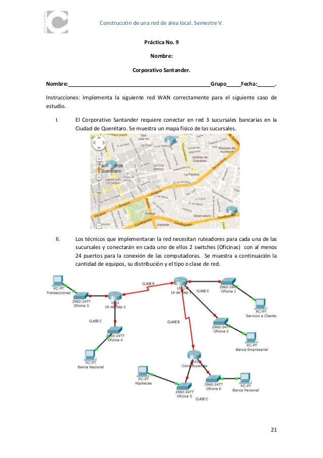 Practicas packet tracer for Mapa santander sucursales