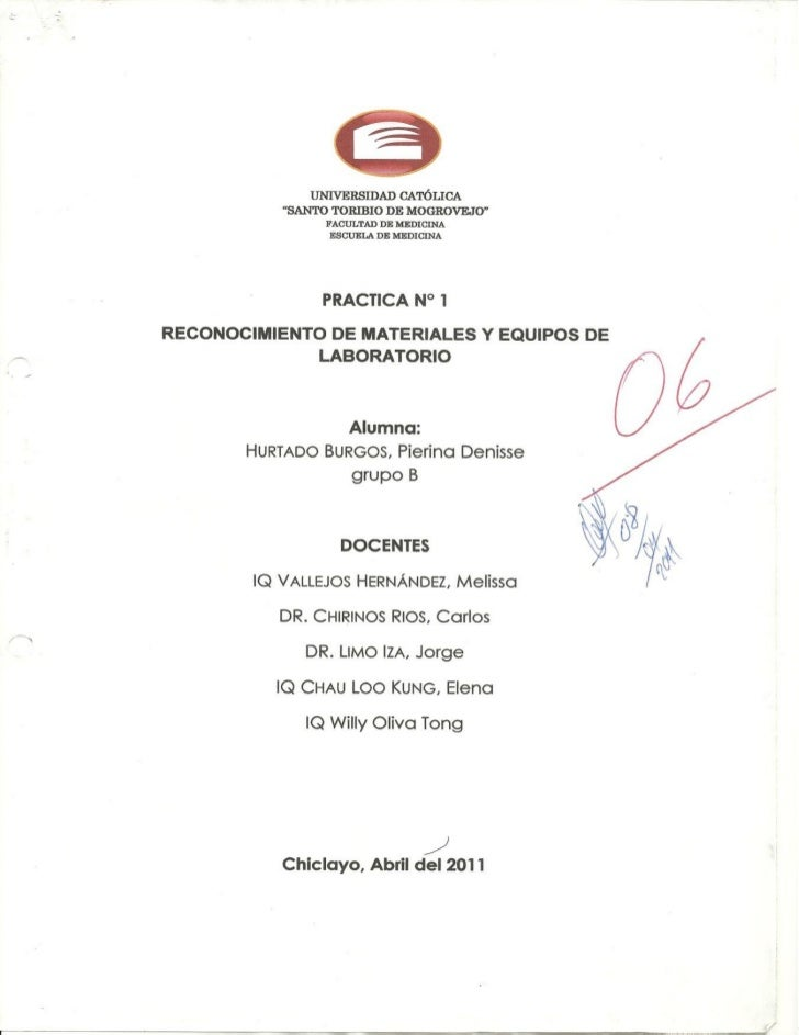 Practicas de quimica medica