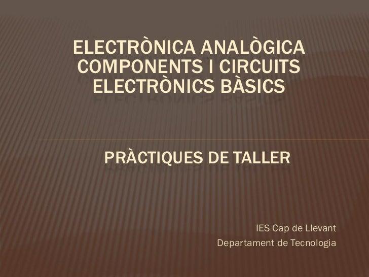 Prácticas electrónica analógica