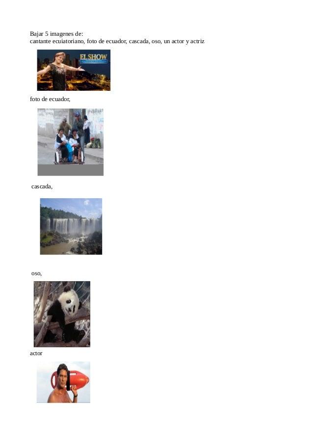 Bajar 5 imagenes de:cantante ecuiatoriano, foto de ecuador, cascada, oso, un actor y actrizfoto de ecuador,cascada,oso,actor