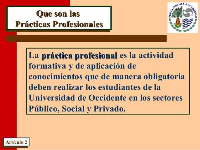 Que son lasQue son las Prácticas ProfesionalesPrácticas Profesionales Que son lasQue son las Prácticas ProfesionalesPrácti...