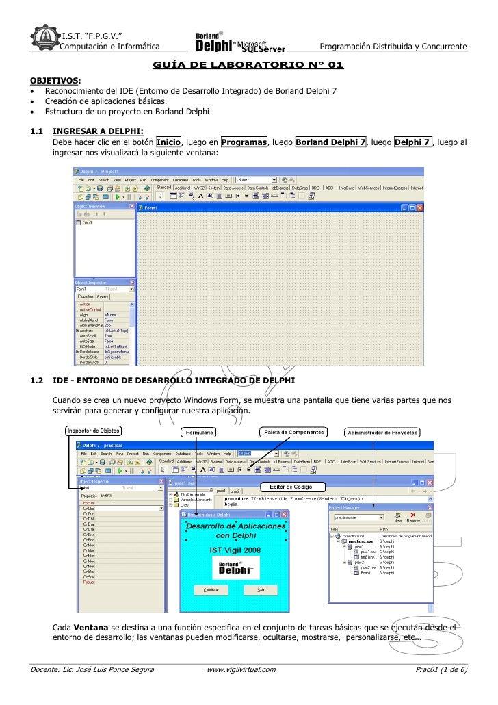 """I.S.T. """"F.P.G.V.""""         Computación e Informática                                           Programación Distribuida y C..."""