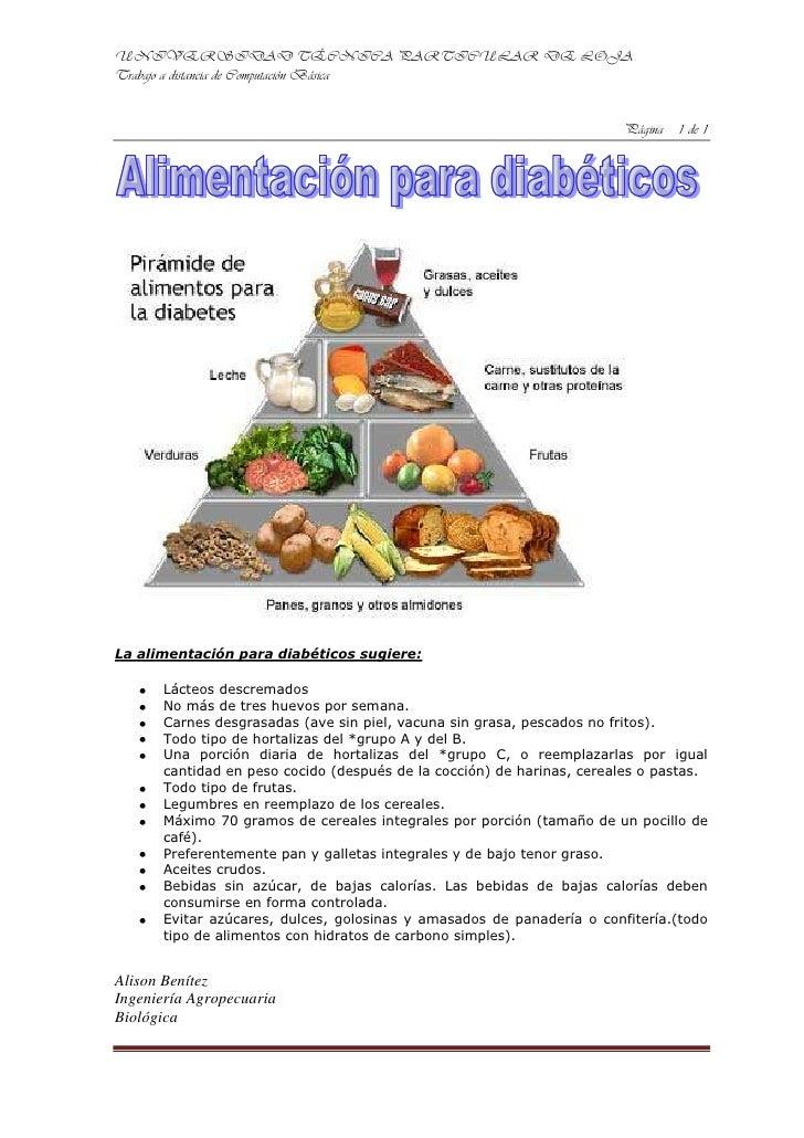 La alimentación para diabéticos sugiere:<br />Lácteos descremados<br />No más de tres huevos por semana.<br />Carnes desgr...