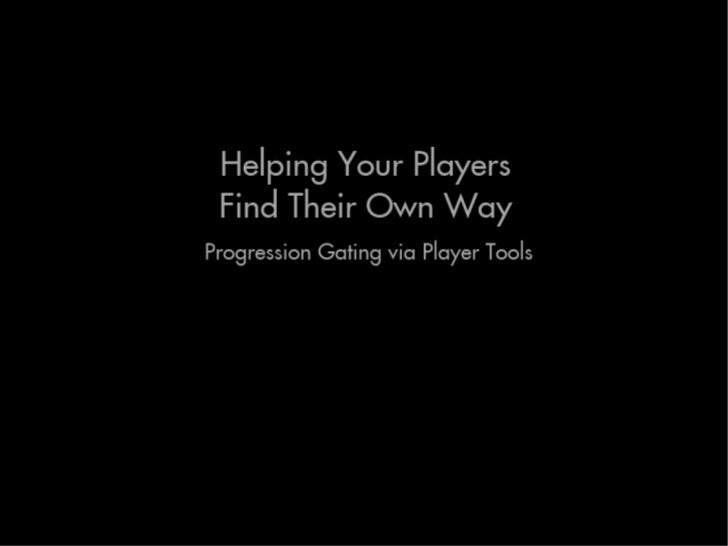 Steve gaynor - Helping Your Players Find Their Own Way - NYU Practice 2011