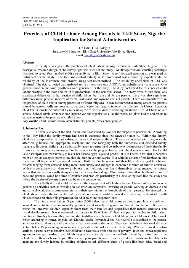 Journal of Education and Practice www.iiste.org ISSN 2222-1735 (Paper) ISSN 2222-288X (Online) Vol.4, No.11, 2013 1 Practi...
